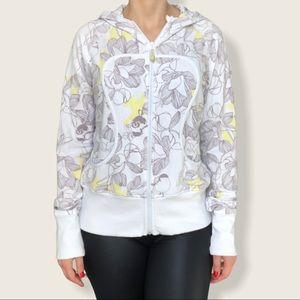 Lululemon scuba lux floral zip hoodie sweater M 8